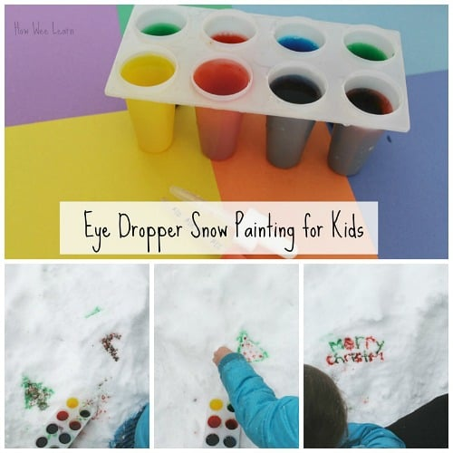 Snow Painting for Kids