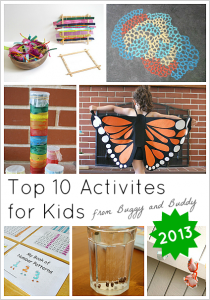 The Best Activities for Kids from Buggy and Buddy- 2013