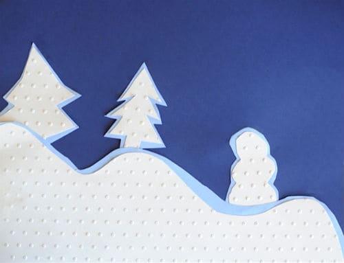 Snowy Scene Paper Project
