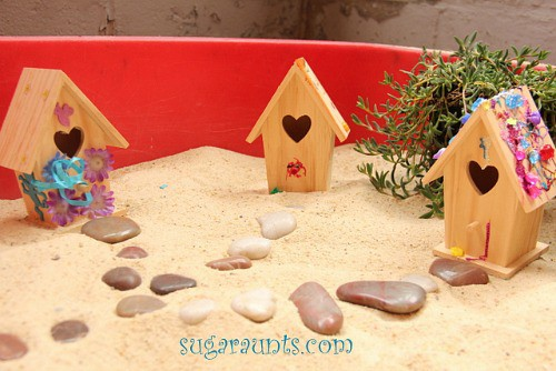 Small World Fairy Neighborhood Sandbox Play