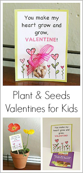 Homemade Valentine for Kids Using Seeds (with Free Printable) ~ Buggy and Buddy