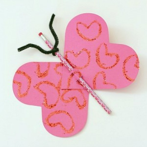 Homemade Valentines for Kids: Butterfly Pencil Valentine