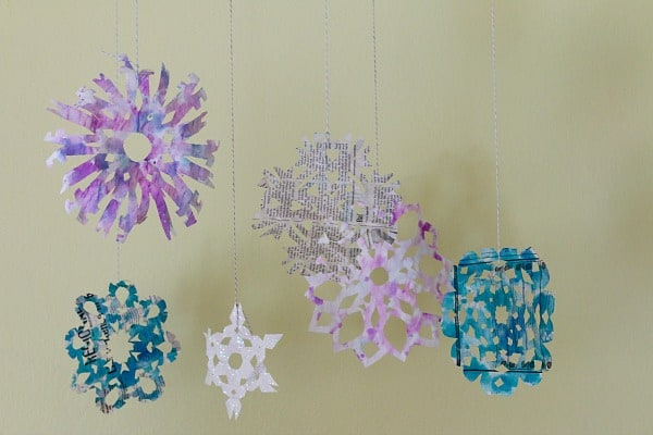 Watercolored Paper Snowflakes~ Buggy and Buddy