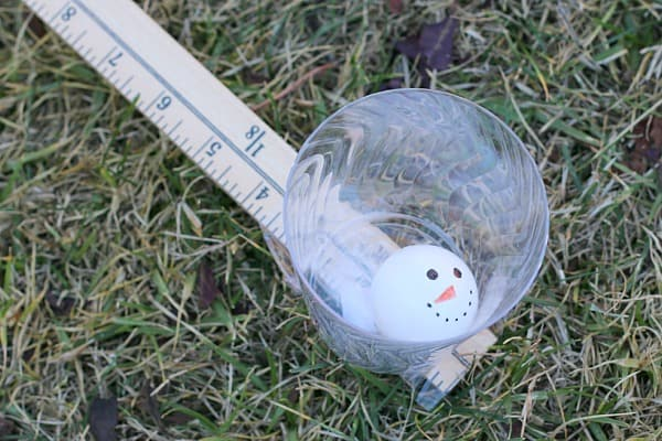 Launching Ping Pong Ball Snowmen with a Lever (Science for Kids)~ Buggy and Buddy