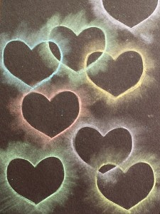 Heart Chalk Stencil Art for Kids