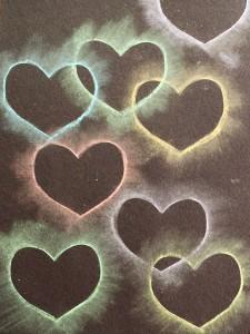 Heart Chalk Stencil Art for Kids