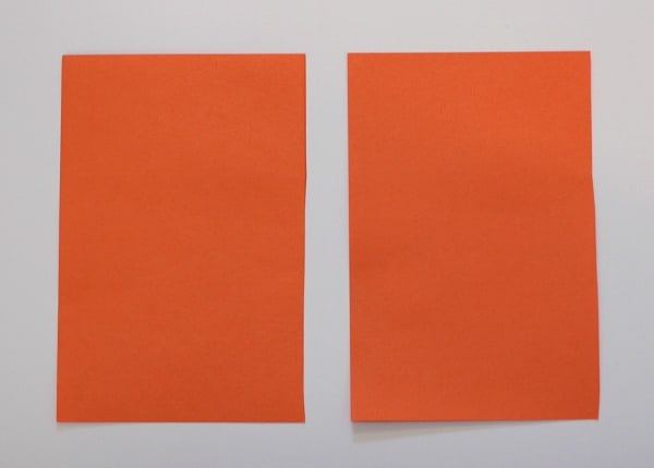 cut paper in half