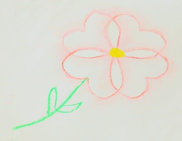 Chalk Stencil Flower