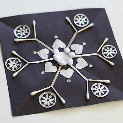 Symmetrical Snowflake Winter Craft for Kids