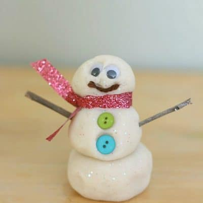 Playdough Snowman Factory Winter Sensory Play
