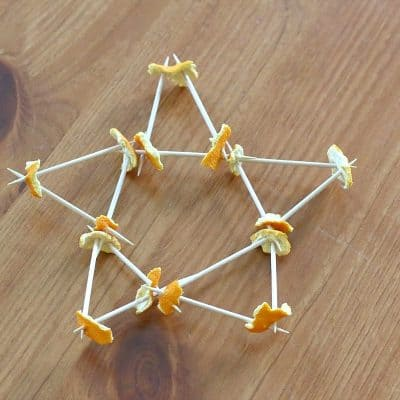 Building with Toothpicks and Orange Peels