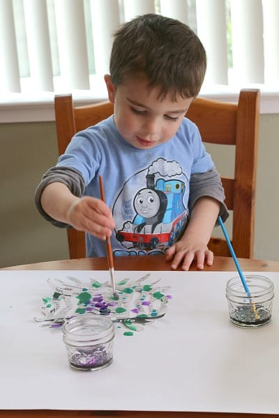 Painting Newspaper Snowflakes with Watercolors~ Buggy and Buddy