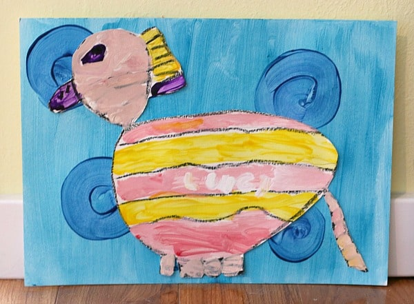 Colorful Animal Paintings Inspired by Blue Dog (George Rodrigue)~ Buggy and Buddy