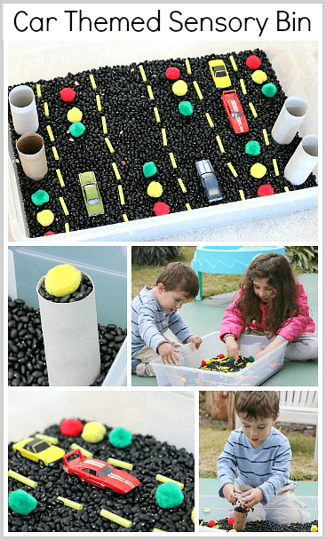 Car Themed Sensory Box~ Buggy and Buddy