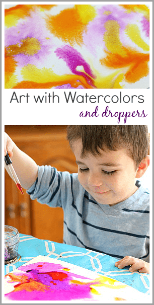 Creating Unique Art with Watercolors and Droppers~ Buggy and Buddy