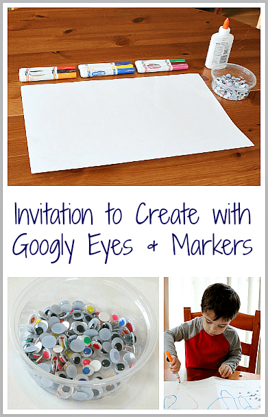 Simple Invitation to Create with Googly Eyes & Markers from Buggy and Buddy