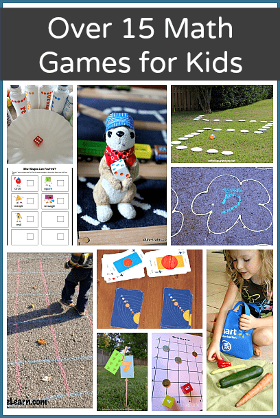 Over 15 Math Games for Kids