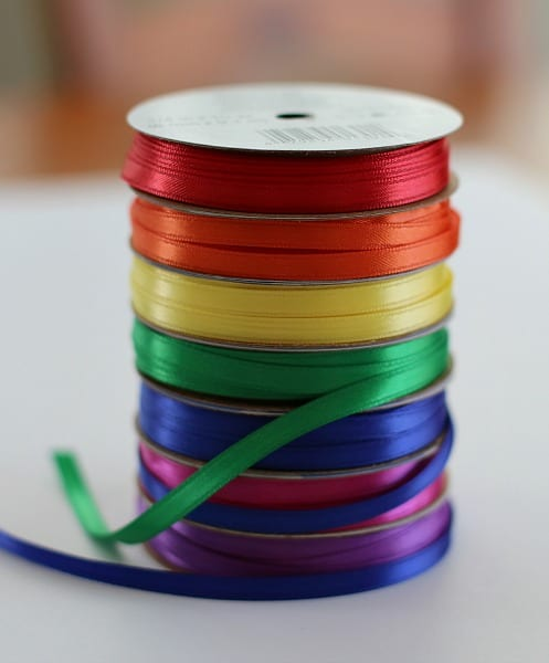 Ribbon in rainbow colors