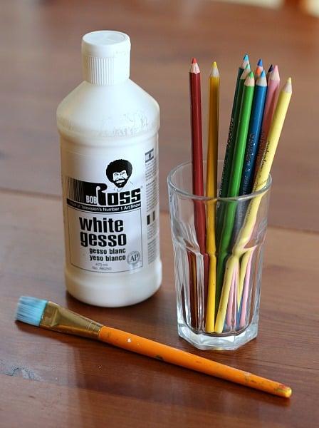 Supplies for stick art