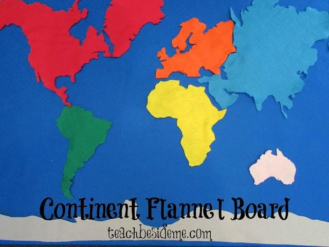 Continent Felt Board