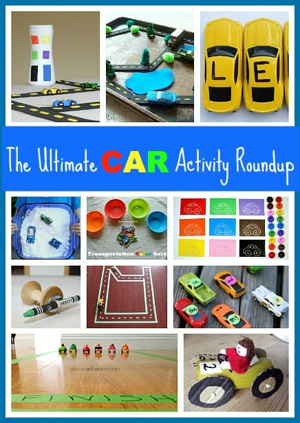 40+ Toy Car Activities for Toddlers and Preschoolers: All kinds of ways to learn, create, and play with toy cars and Hot Wheels including homemade car mats, painting with cars, learning the alphabet and more!