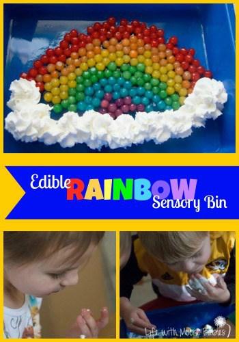Edible Rainbow Sensory Bin