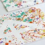 Easy Art Projects for Kids: Splatter Paint and Tape Resist