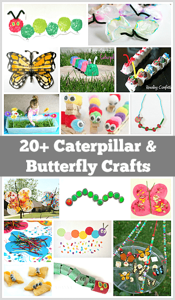 Over 20 caterpillar and butterfly crafts and activities for kids!