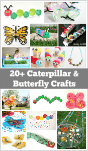 20+ Caterpillar and Butterfly Crafts for Kids