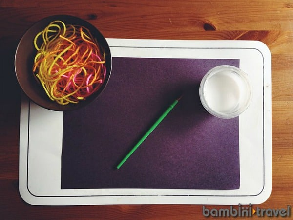 Glue and Yarn Activity for Kids