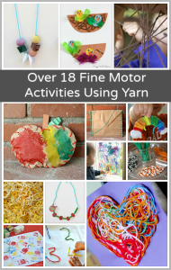 18+ Fine Motor Activities for Kids Using Yarn
