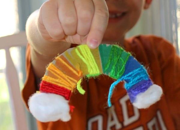 Yarn Wrapped Rainbow