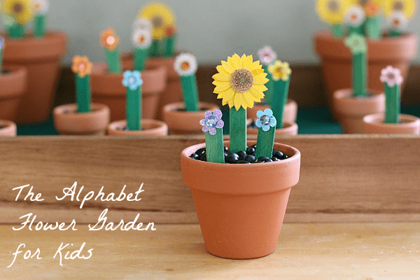 Spring Learning Activity for Kids: The Alphabet Flower Garden~ Buggy and Buddy