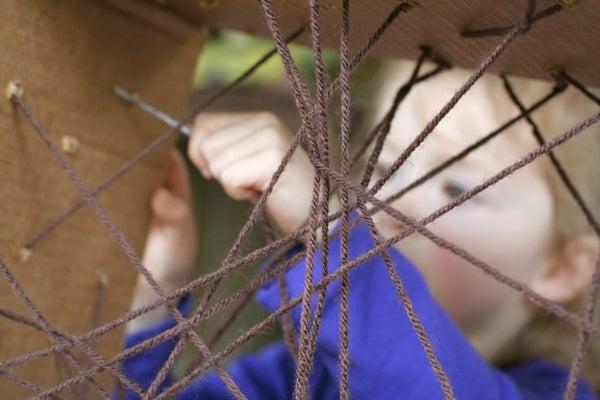 Giant Lacing Spiderweb