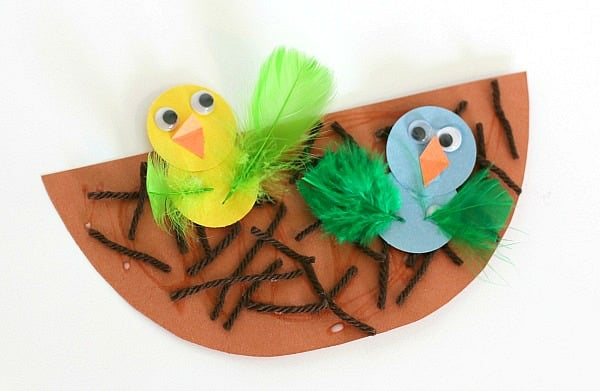 Spring Crafts for Kids: Nest and Birds Paper Craft