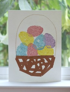 Easter Crafts for Kids: Sponge Painted Easter Egg Basket