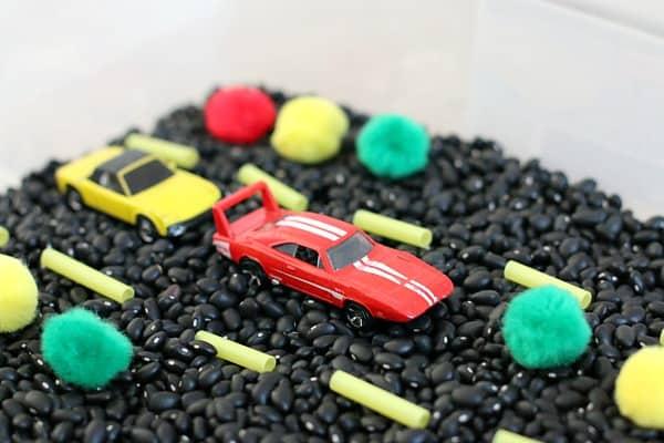 Car Themed Sensory Bin~ Buggy and Buddy