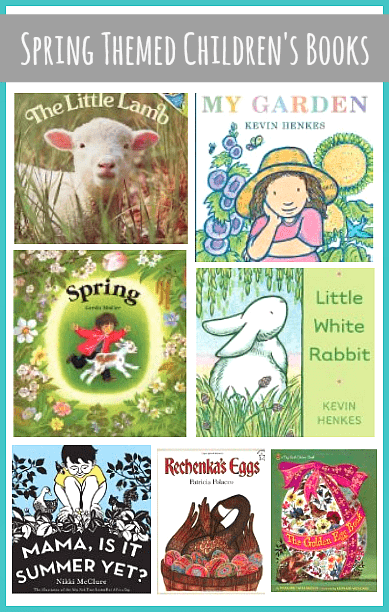 Our favorite children's picture books about spring including Rechenka's Eggs, My Garden, Little White Rabbit and more! ~ BuggyandBuddy.com