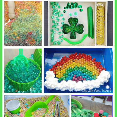 St. Patrick's Day Themed Sensory Play