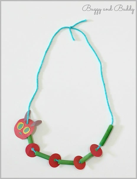 Very Hungry Caterpillar Necklace Craft for Kids