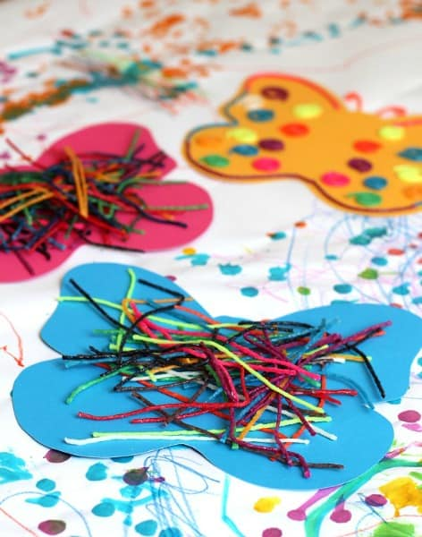 Easy Butterfly Art for Toddlers and Preschoolers