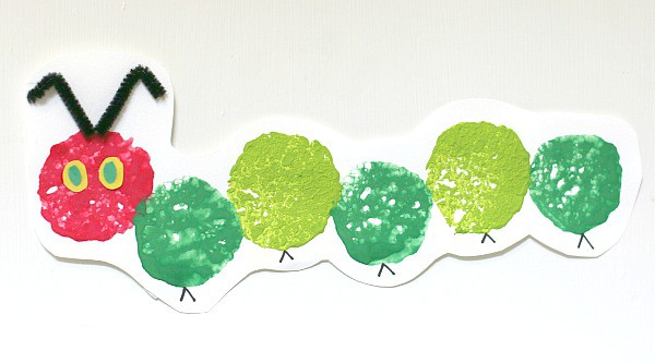 The Very Hungry Caterpillar Sponge Stamping Craft For Kids Buggy And Buddy