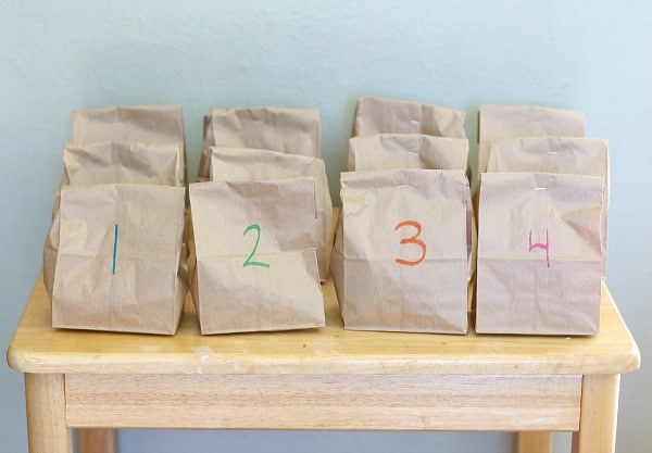 numbered bags for fishing game