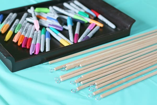 make own fishing pole craft for fish themed birthday party