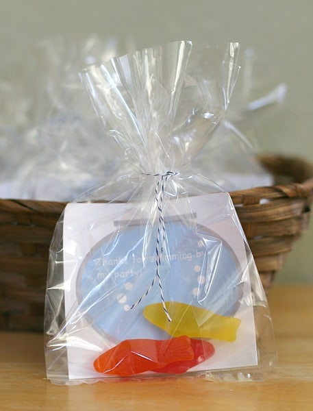 Fish Themed Party Favors for Birthday Party (Free PDF Printable)