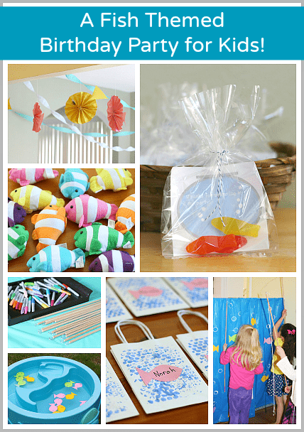 A Fish Themed Birthday Party (with FREE printable party favor tag)~ Buggy and Buddy