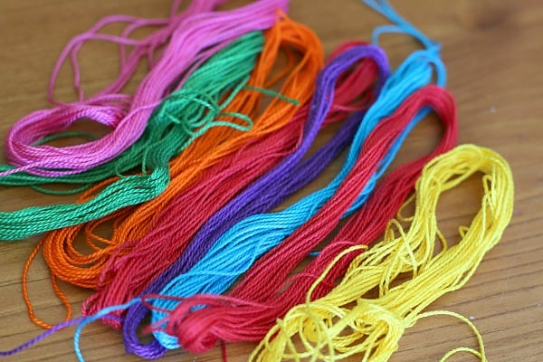 colorful string for string art for kids