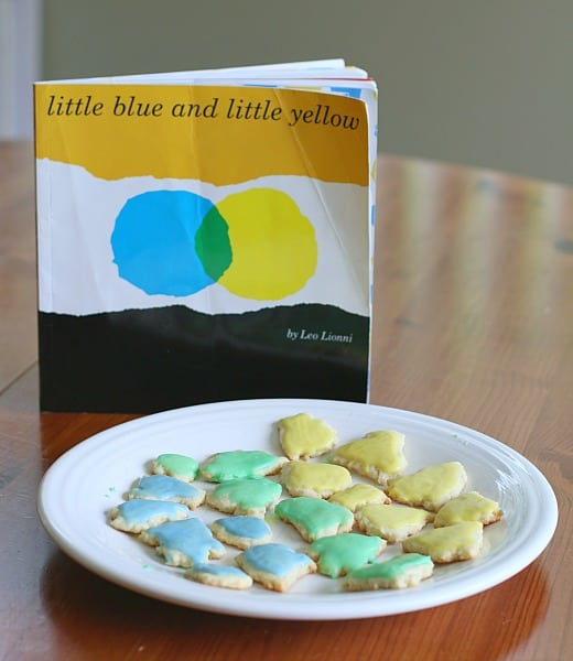 Little Blue and Little Yellow Cookies (Kids will love mixing colors and baking their own treat!)~ Buggy and Buddy