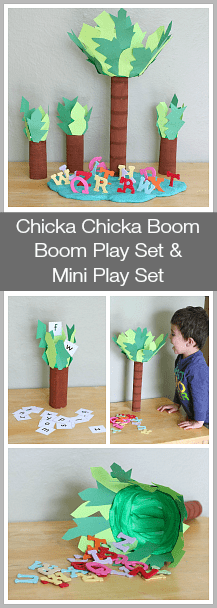 Homemade Chicka Chicka Boom Boom Activity for Kids~ Buggy and Buddy