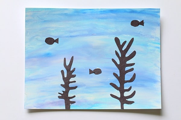 Art for Kids: Using Chalk and Tempera Paint to Make Ocean Scenes